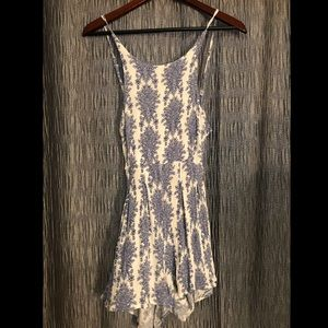 Dresses & Skirts - Blue and white floral romper